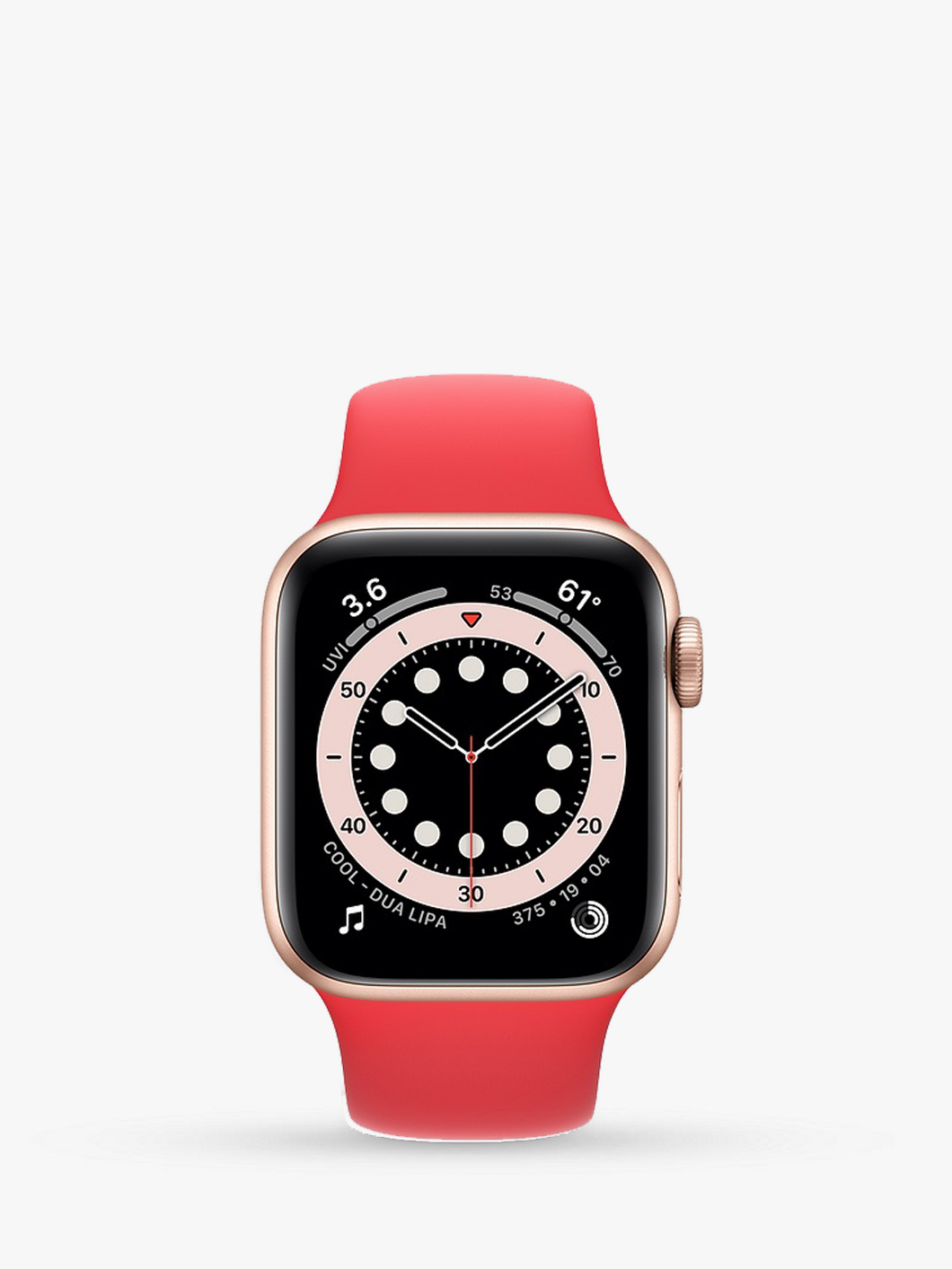 Smart Watch: Rosegold with Red Bracelet
