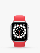 Load image into Gallery viewer, Smart Watch: Silver with Red Bracelet