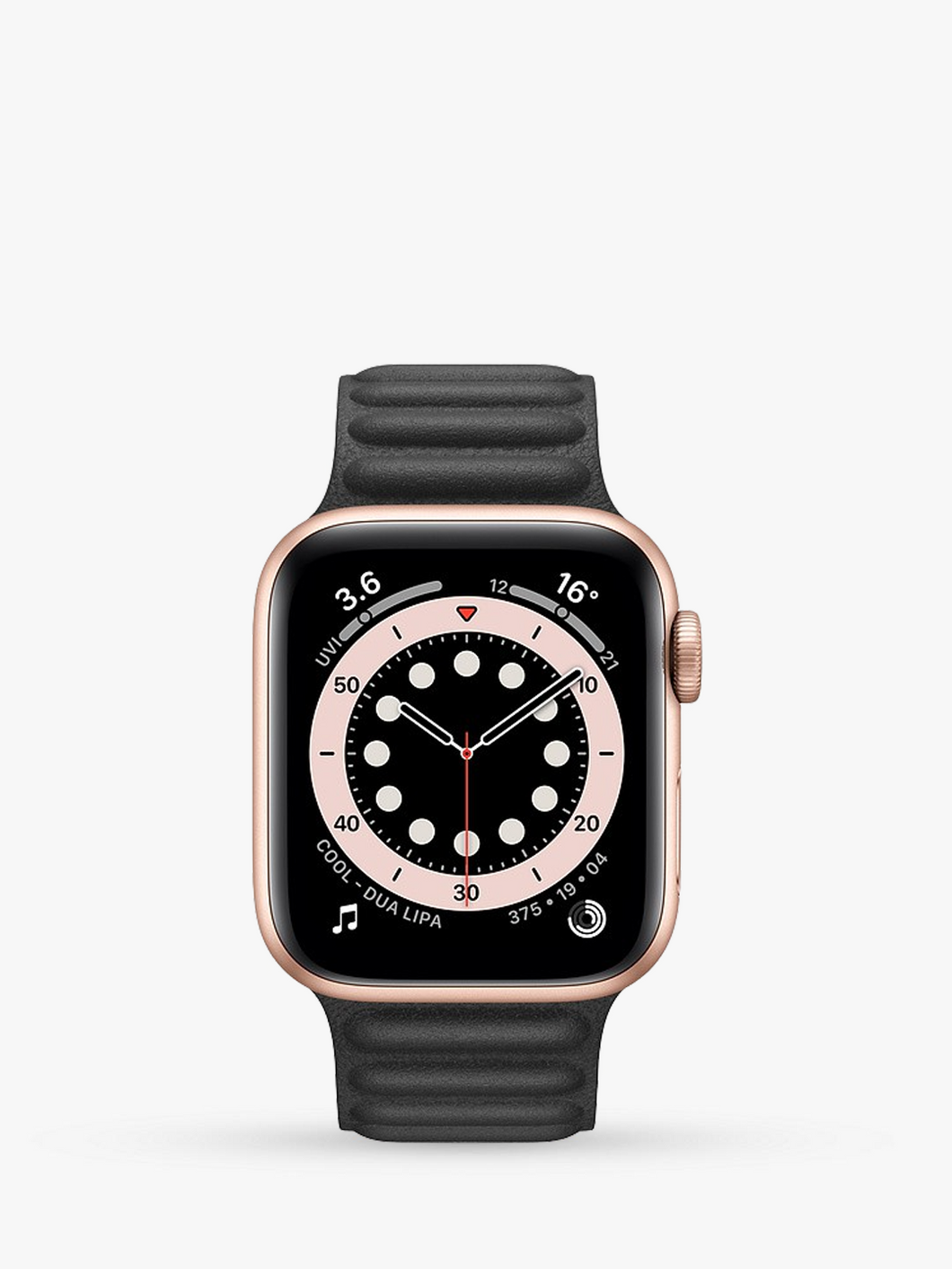 Smart Watch: Rosegold with Black Leather