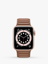 Load image into Gallery viewer, Smart Watch: Rosegold with Brown Leather