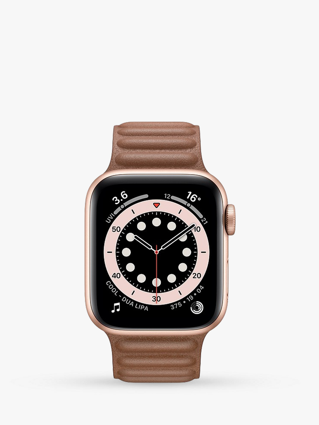 Smart Watch: Rosegold with Brown Leather
