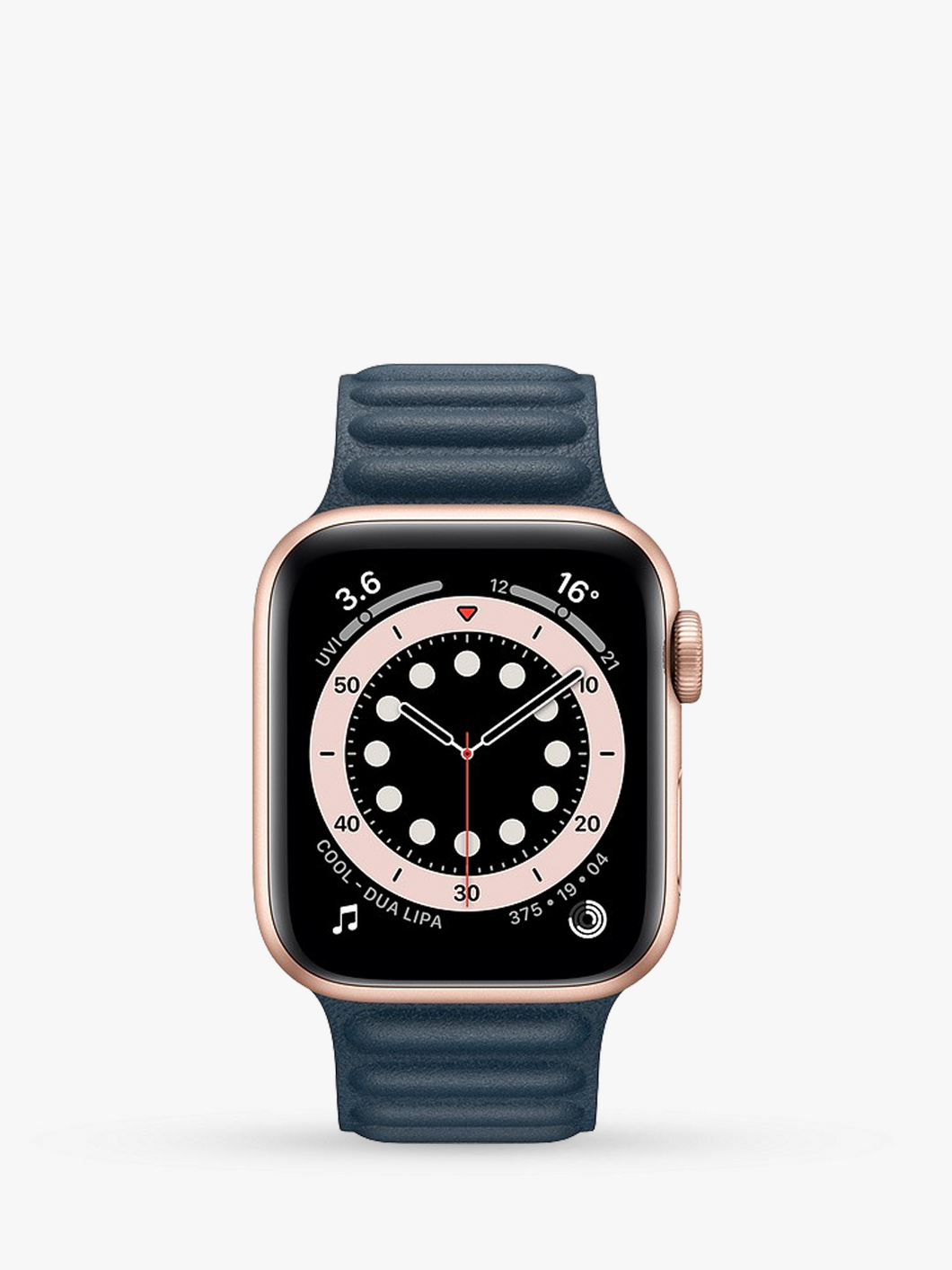 Smart Watch: Rosegold with Navy Leather