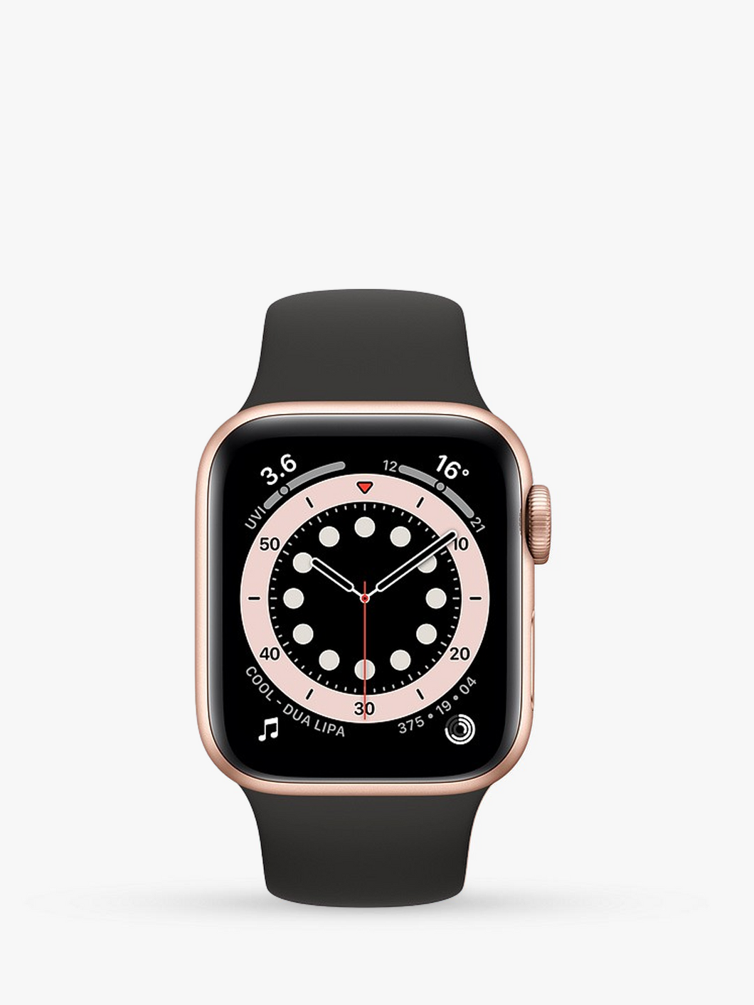 Smart Watch: Rosegold with Black Bracelet