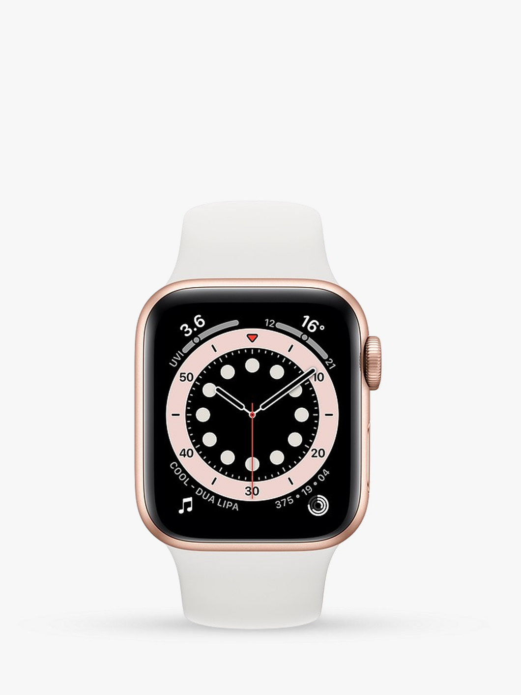 Smart Watch: Rosegold with White Bracelet