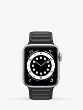 Load image into Gallery viewer, Smart Watch: Silver with Black Leather