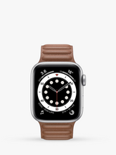 Load image into Gallery viewer, Smart Watch: Silver with Brown Leather