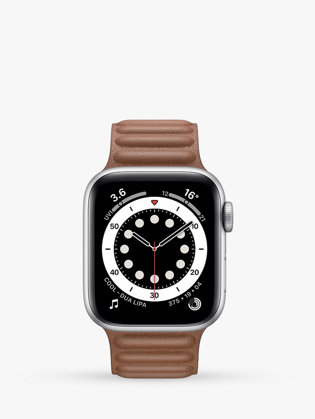 Smart Watch: Silver with Brown Leather