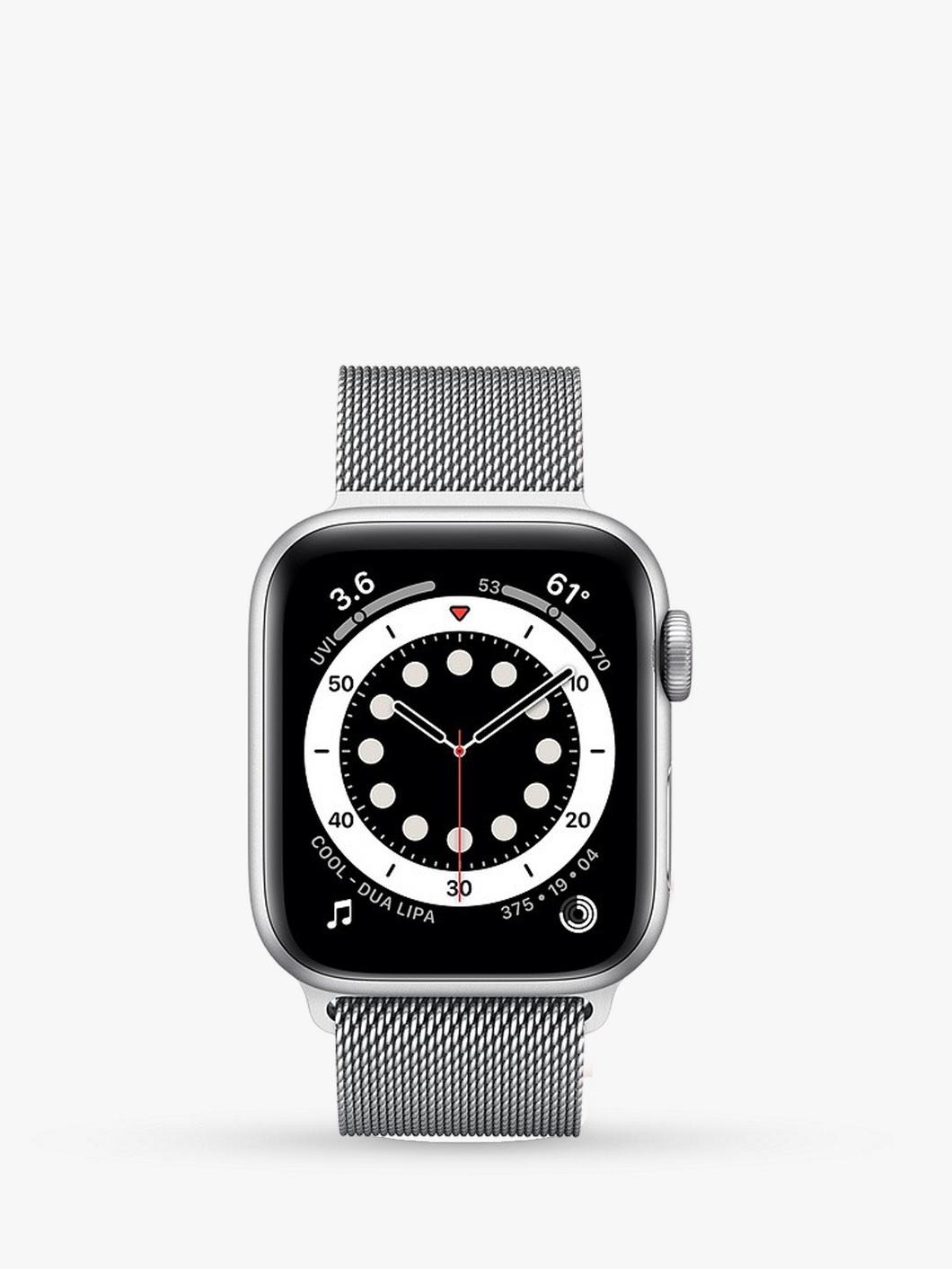 Smart Watch: Silver/Silver Milanese