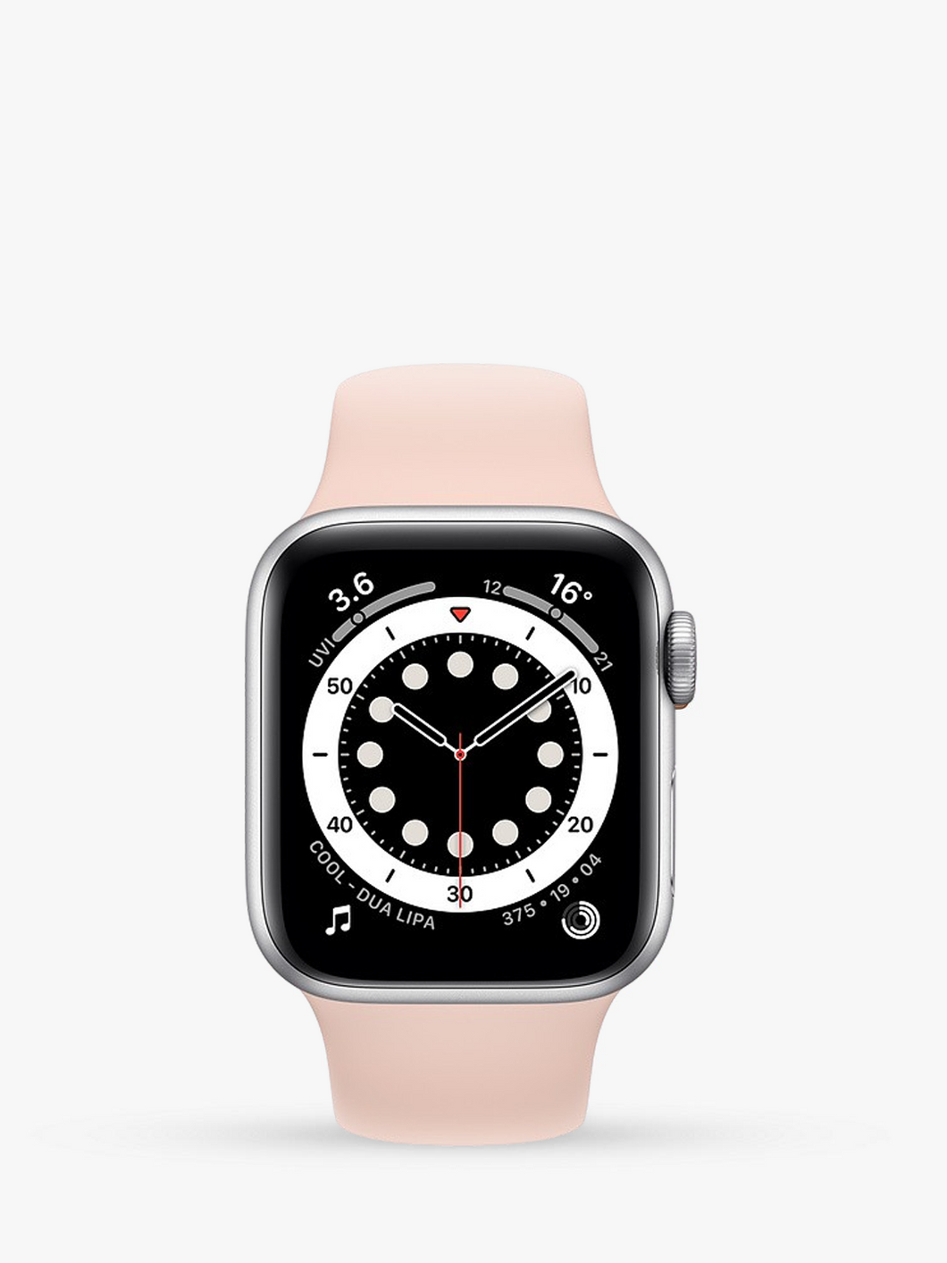 Smart Watch: Silver with Pink Bracelet