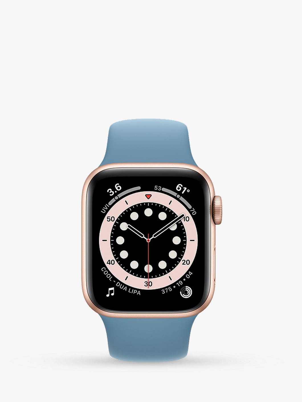 Smart Watch: Rosegold with Sky Blue Bracelet