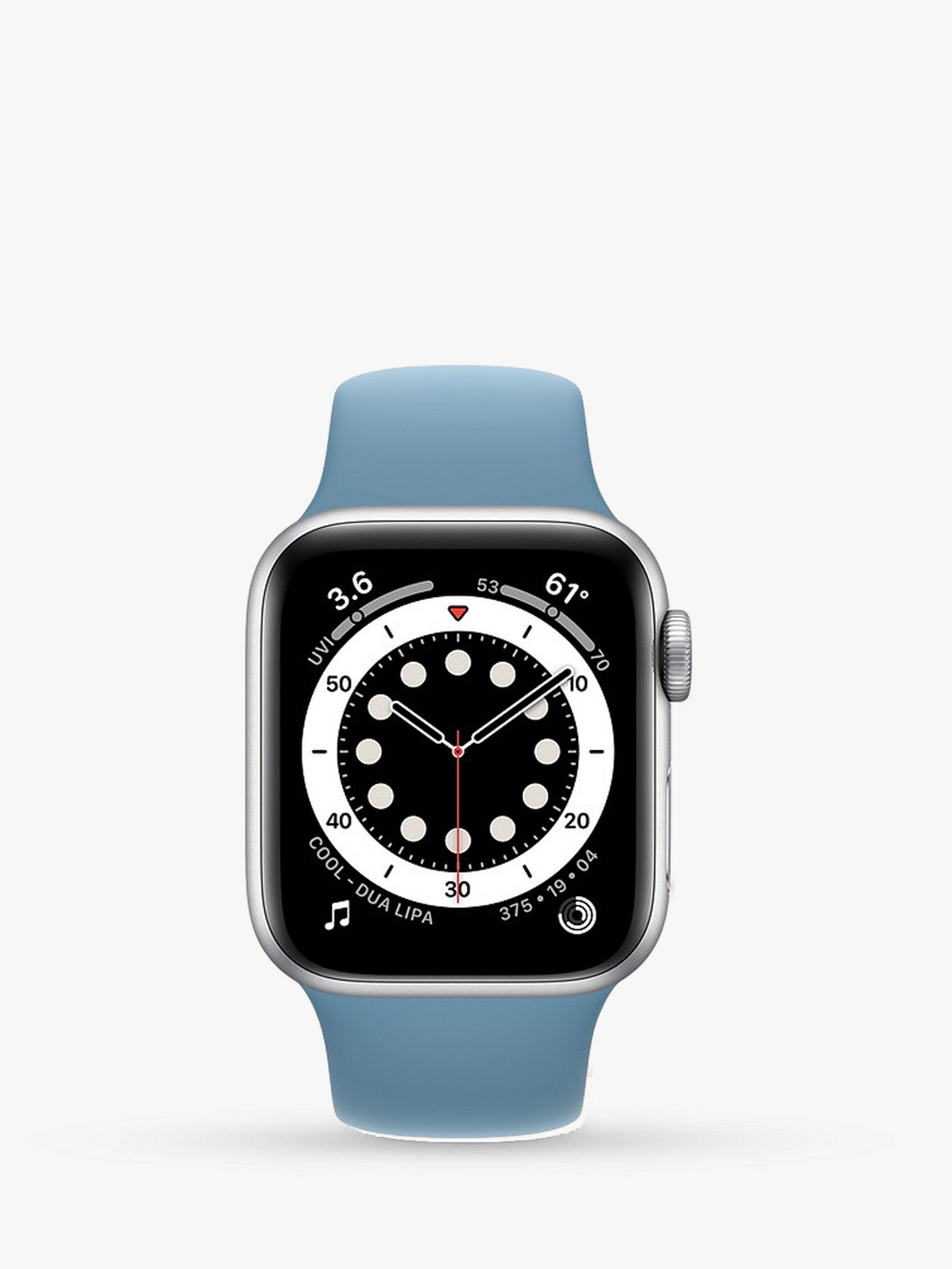 Smart Watch: Silver with Sky Blue Bracelet