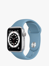 Load image into Gallery viewer, Smart Watch: Silver with Sky Blue Bracelet