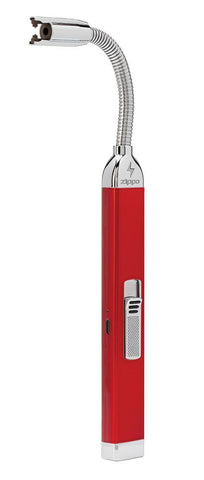 Rechargeable Candle Lighter Candy Apple Red at 3/4 front angle