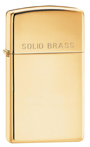 "1654, ""Solid Brass"" Slim Case with High Polish Brass Finish"