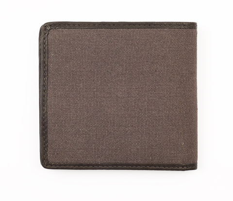 Leather and Canvas Wallet