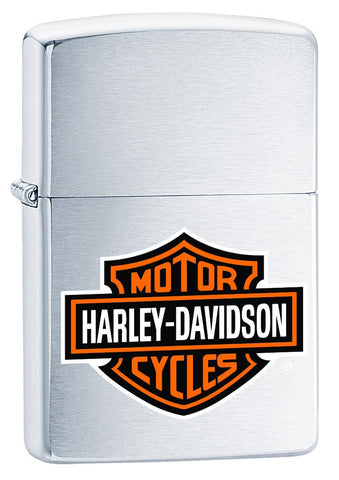 200HD, Harley-Davidson Logo, Color Image, Brushed Chrome, Classic Case