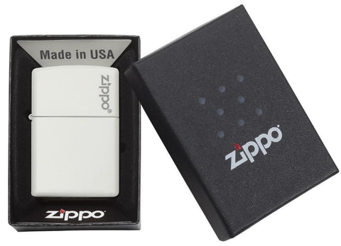 214ZL, White Matte Finish with Zippo Logo