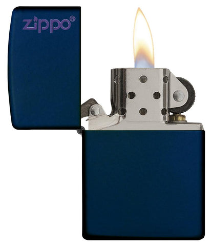 239ZL, Navy Blue Matte with Zippo Logo, Color Image