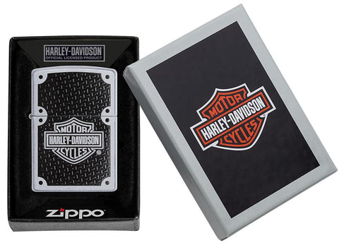 Front view of Harley-Davidson® lighter in packaging