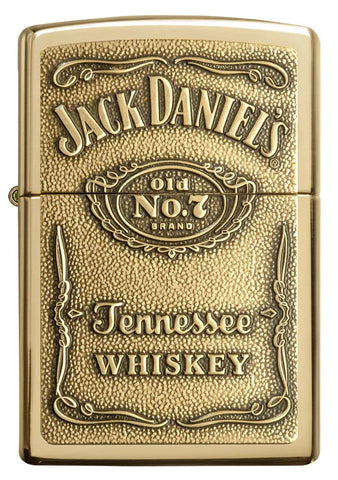 254BJD, Jack Daniel's Bronze Emblem, High Polish Brass, Classic Case