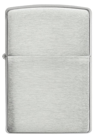 Front view of Armor® Brushed Sterling Silver Windproof Lighter