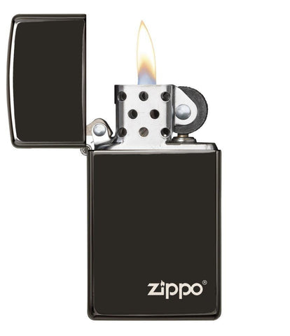 28123ZL, Ebony Finish with Zippo Logo and Slim Case