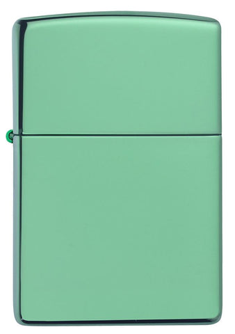 Front of Classic High Polish Green Windproof Lighter