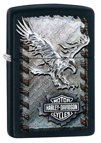 28485, Harley-Davidson Chrome Eagle, Color Image, Black Matte Classic Case