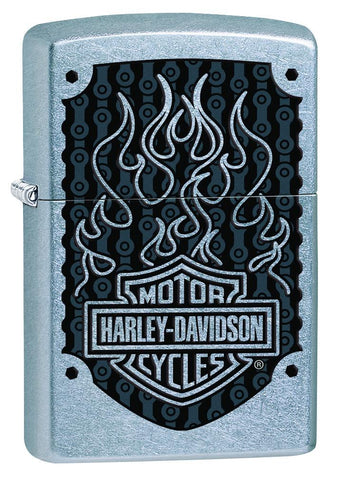 29157, Harley-Davidson Black Flames, Color Image, Street Chrome, Classic Case