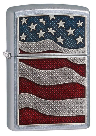 29513, Diamond Plate Flag, Americana Emblem, Street Chrome, Classic Case