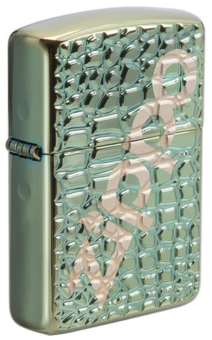 29525-000003-Alligator Chameleon Windproof Lighter -Deep Carved Armor Case
