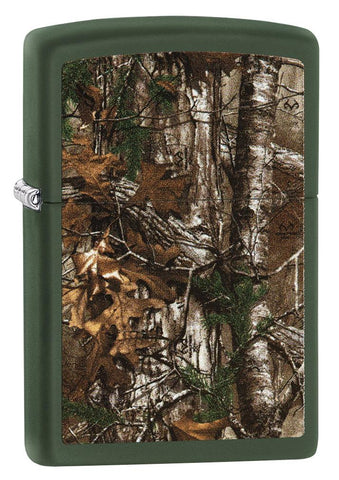29585 Realtree Camo Design on Green Matte Lighter