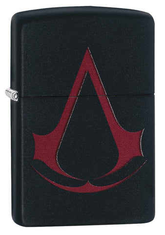 29601 Assassin's Creed Scarlet Red Crest on a Black Matte Lighter
