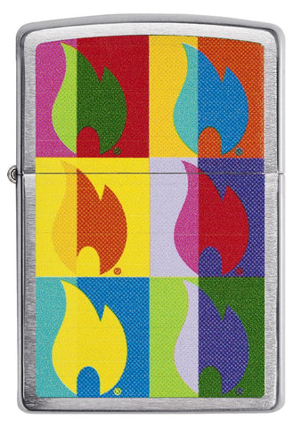 Front view of Abstract Neon Flame Design Windproof Lighter