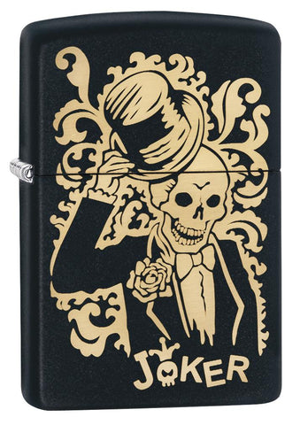 29632 Joke Skeleton Tipping Hat with Bronze Swirls on Black Matte Lighter