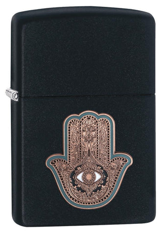29634 Hamsa Hand Emblem in Black Matte Lighter