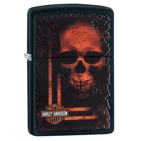 29654 - Harley-Davidson® Sinister Skull Lighter, 3/4 View