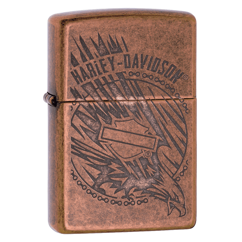 29664 - Harley-Davidson®Antique Copper Eagle Lighter, 3/4 View