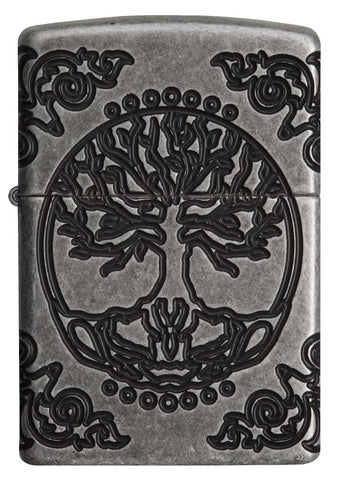 Front view of Armor® Tree of Life Windproof Lighter