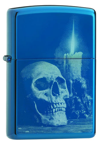 High Polish Blue Skull Design