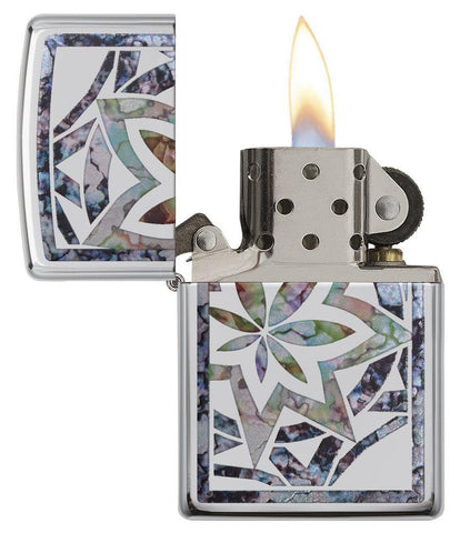 29727 - Leaf Fusion Design Lighter - Open Lit
