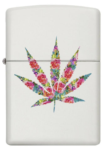 29730 - Floral Weed Design Lighter - Front View