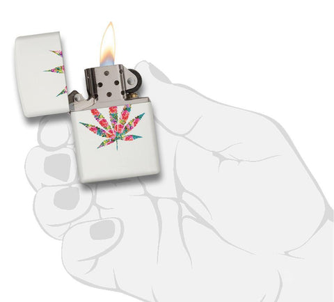 29730 - Floral Weed Design Lighter - In Hand