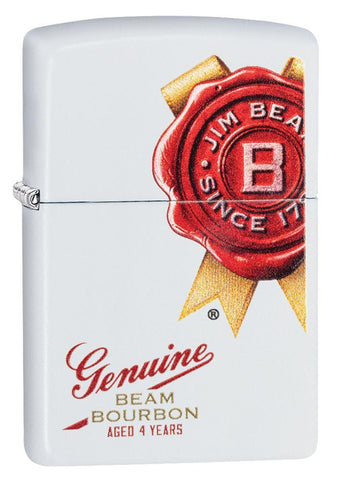 Jim Beam White Matte Lighter