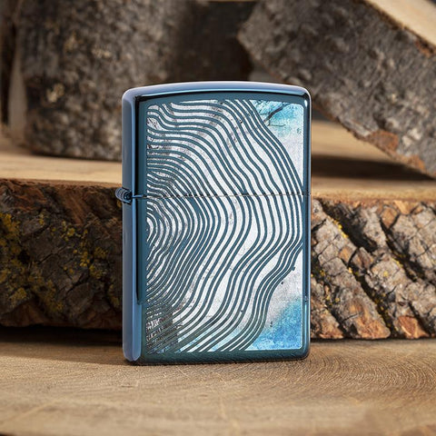 Tree Rings Design Lighter