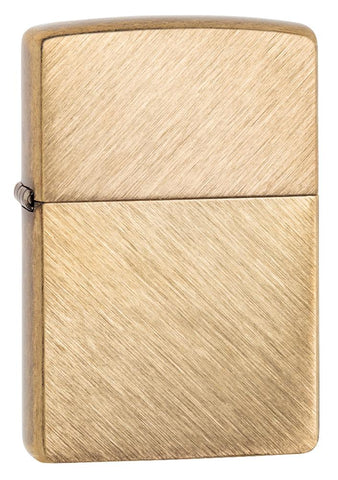 Herringbone Sweep Brass Lighter