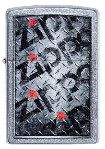 Diamond Plate Zippo Design Lighter