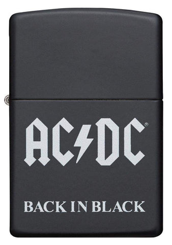 Front view of AC/DC® Back In Black windproof lighter