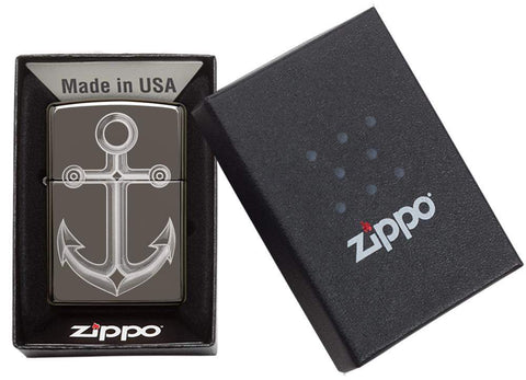Black Ice® Anchor Windproof Lighter in its packaging