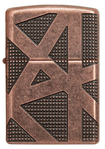 Front view of Armor® Geometric 360 Design Windproof Lighter